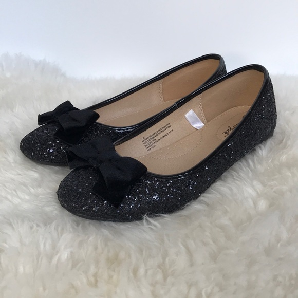 8993ca39782 Cat   Jack Other - Girls Cat   Jack Black Glitter Ballet Flats